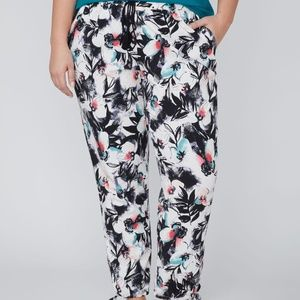 Floral Plus Printed Soft Ankle Pant Jogger 22 / 24